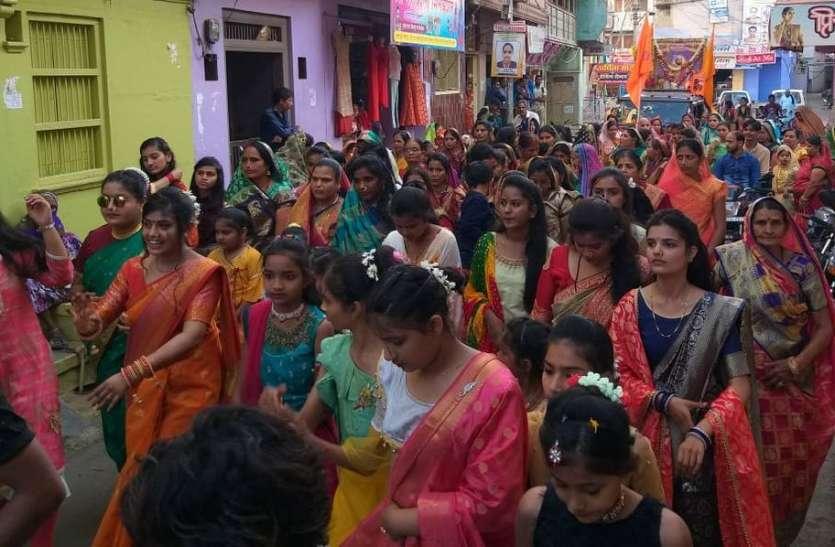 छोटीसादड़ी में शिवाजी जयंती पर निकाली शोभायात्रा