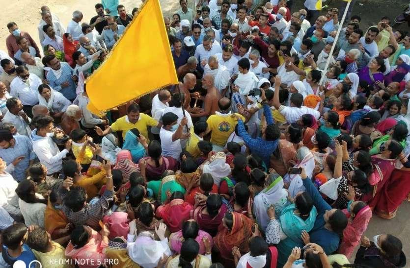 जैन साधुओं के प्रवेश से चौतरफा धर्म बयार, 18 मुनियों सहित आए वर्धमान सागर