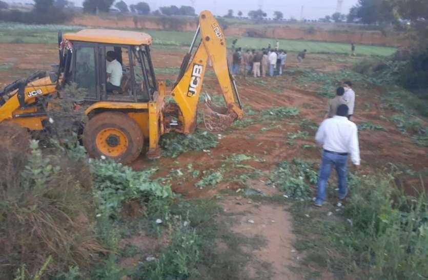 50 हजार रुपए के लालच में दो लोग करा रहे थे खेती, दबिश से पहले भागे