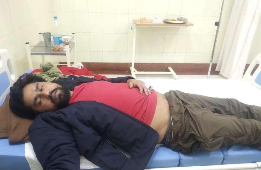 पीबीएम अस्पताल में चालानी गार्ड को धक्का देकर भागा बंदी