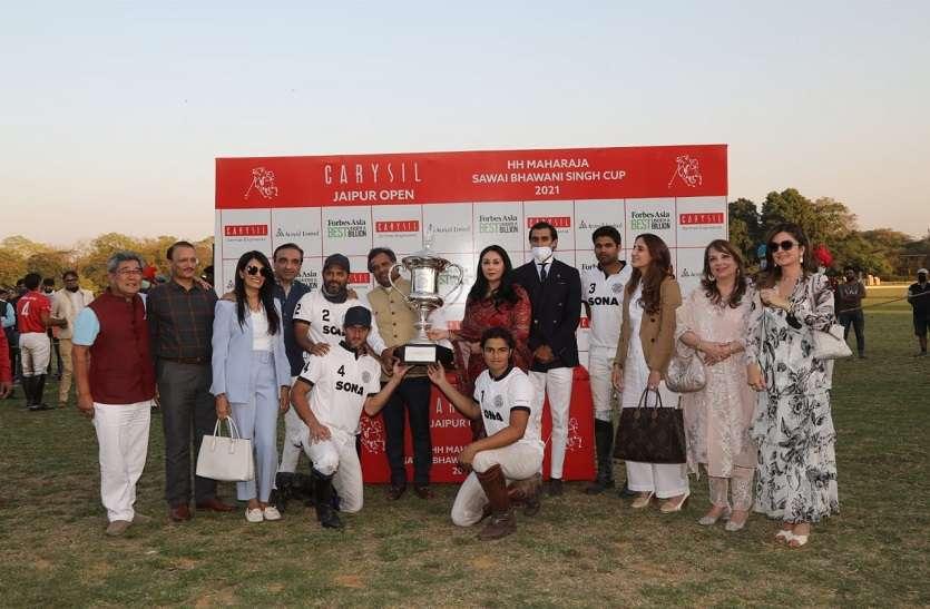 ग्रॉसी ने अंतिम चक्कर में सोना पोलो को बनाया जयपुर ओपन पोलो चैंपियन