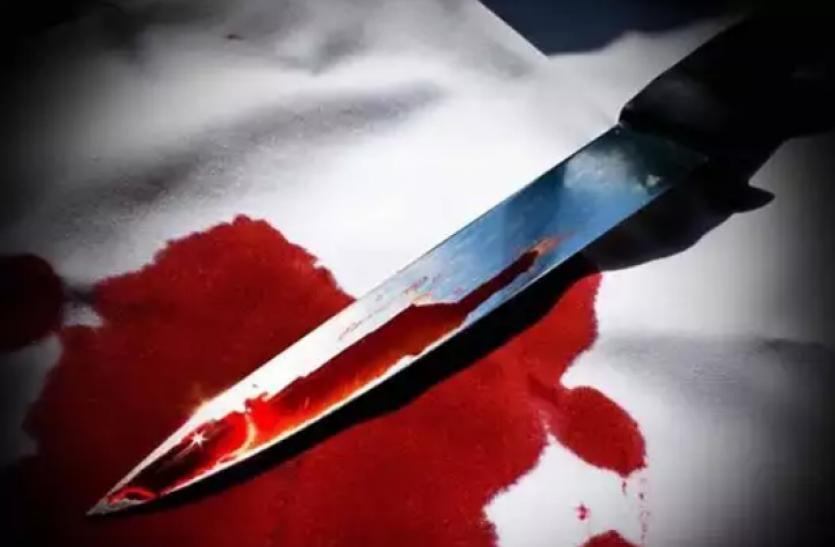 कारपेंटर को प्लाईवुड हार्डवेयर संचालक पिता पुत्र ने चाकूओं से गोदा, दोनों पहुंचे जेल- see video