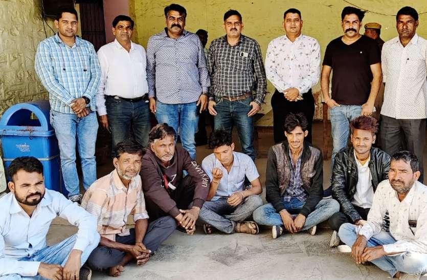 डीएसटी ने पकड़ा जुआ के अड्डा, खेड़ा जमालपुर से सात जुआरी दबोचे