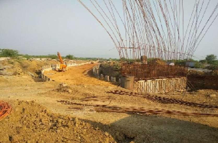 रेलवे ओवरब्रिज निर्माण ने पकड़ी गति
