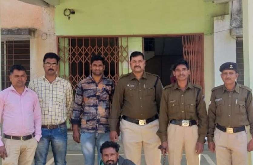 हट्टा पुलिस ने हत्या के आरोपी को गिरफ्तार कर भेजा जेल