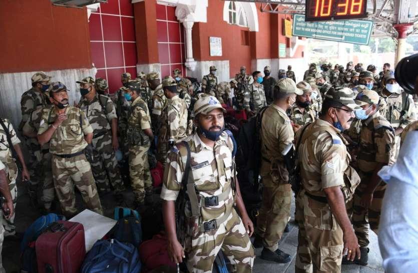 तमिलनाडु पहुंचने लगे सीआईएसएफ बलों के जवान, 45 कंपनियां चुनाव पूर्व ड्यूटी में लगाई जाएंगी