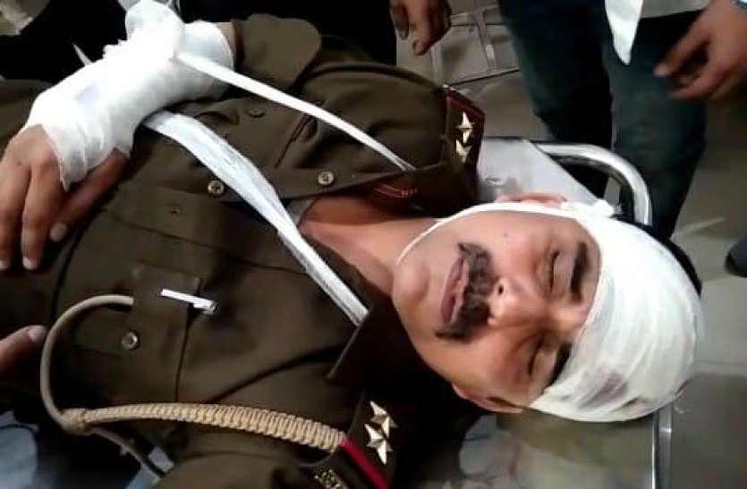 यूपी के बिजनौर में पुलिस पर हमला, दराेगा समेत तीन पुलिसकर्मी घायल