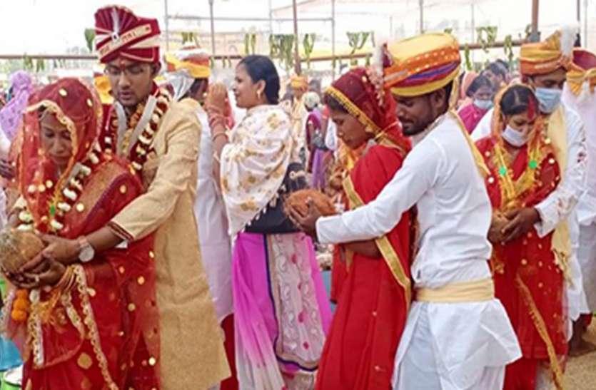 मुख्यमंत्री कन्या विवाह: 75 जोड़ों का हुआ विवाह
