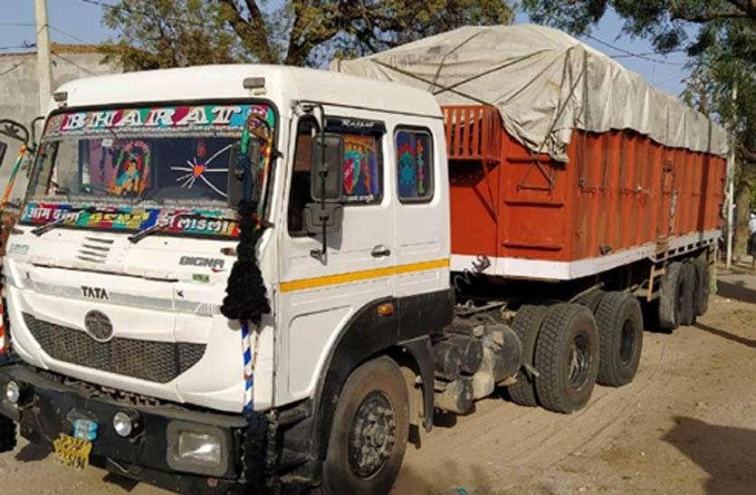 बजरी का अवैध परिवहन कर रहे ट्रोले को एसआइटी ने किया जब्त