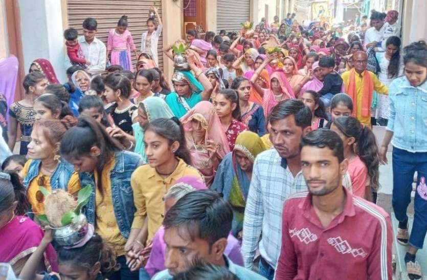 रविदास जयंती पर निकाली शोभायात्रा, किया स्वागत