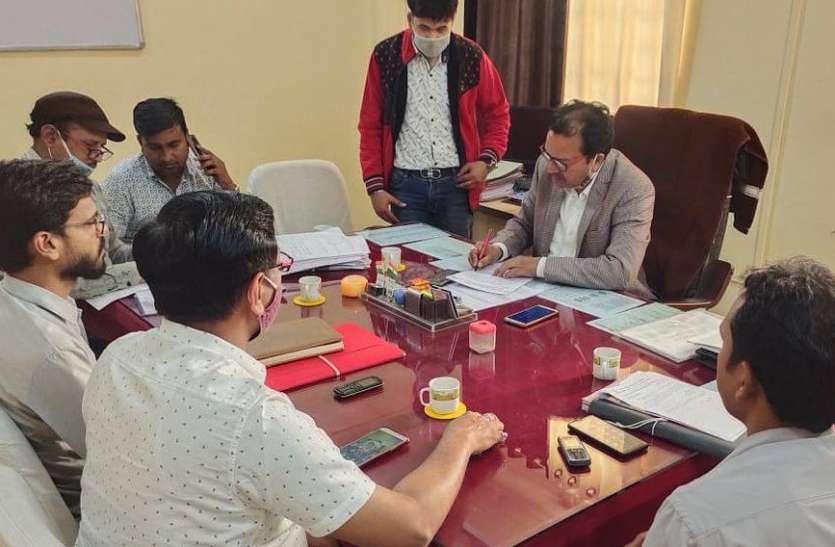 समझौता समिति की बैठक में साढ़े 12 लाख रुपए का किया समायोजन