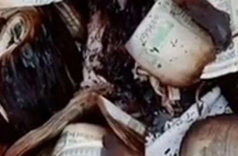 कच्चे घरों में आग, डेढ़ लाख रुपए की नकदी समेत लाखों का नुकसान