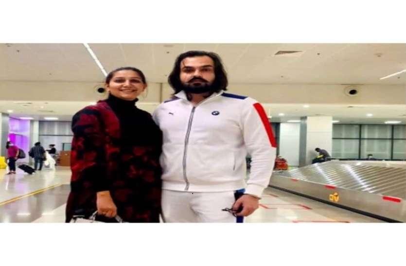 गोवा एयरपोर्ट पर Veer Sahu संग नज़र आईं Sapna Choudhary, स्टाइलिश लुक में नज़र आया कपल