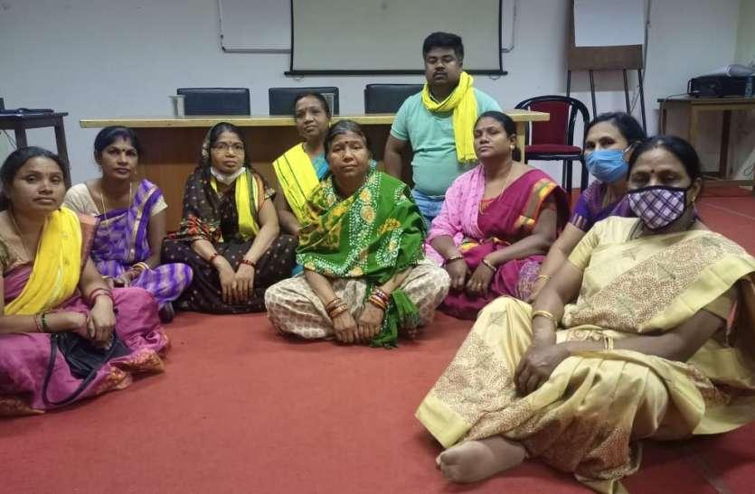 बीएसपी ईडी के साथ अनुकंपा पर बैठक रही बेनतीजा, वहीं धरना पर बैठा पीडि़त पक्ष