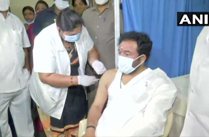 केंद्रीय मंत्री किशन रेड्डी ने लगवाई कोविड 19 वैक्सीन की पहली खुराक