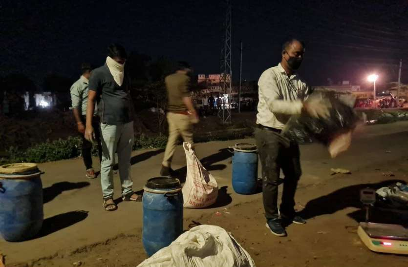 बांसवाड़ा में एटीएस और एसओजी के साथ पुलिस का छापा, करोड़ों की प्रतिबंधित ड्रग बरामद