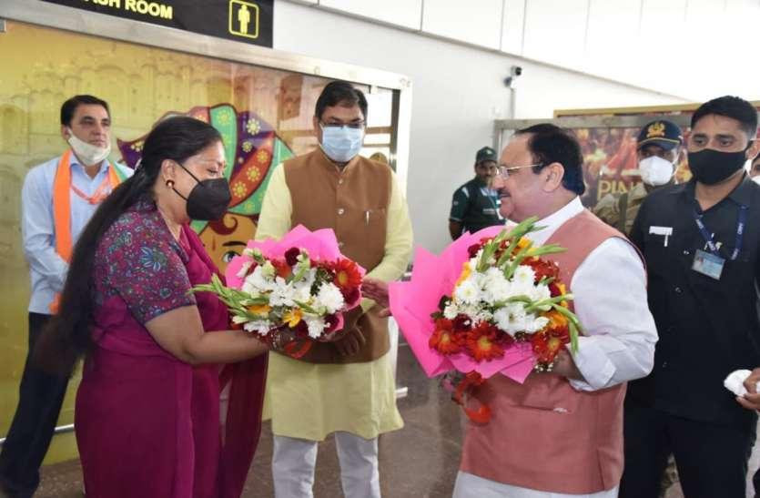 नड्डा के स्वागत में भाजपा नजर आई एकजुट, रोड शो के जरिए दिखाई ताकत