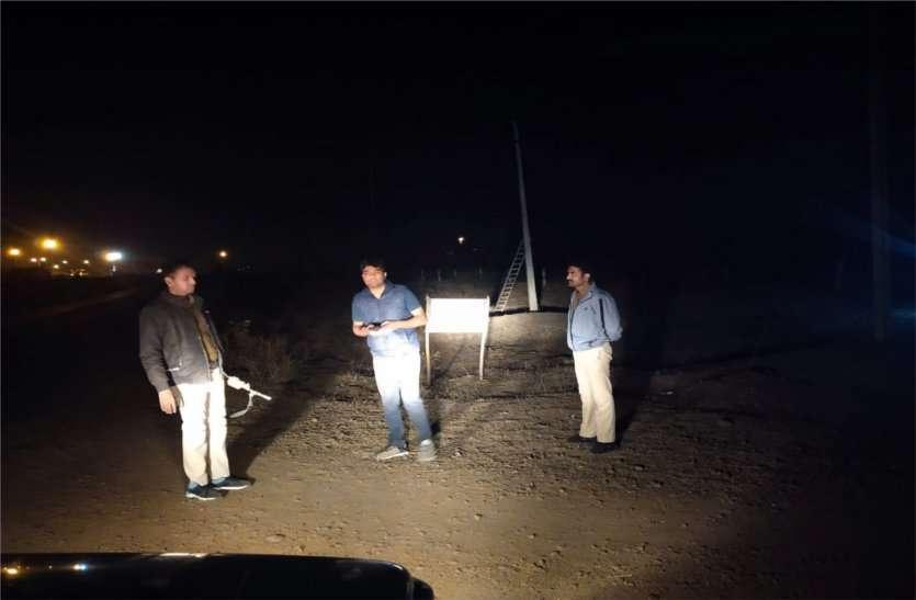 अवैध उत्खनन रोकने रात में टीम कर रही निरीक्षण, नदी तक जाती है टीम
