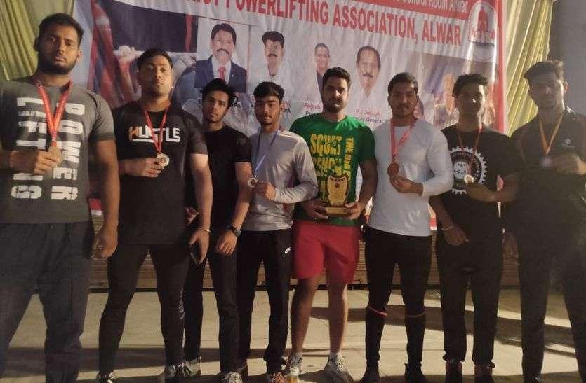 पावर लिफ्टिंग में राज्य स्तर पर धौलपुर के खिलाडिय़ों ने दिखाया दम