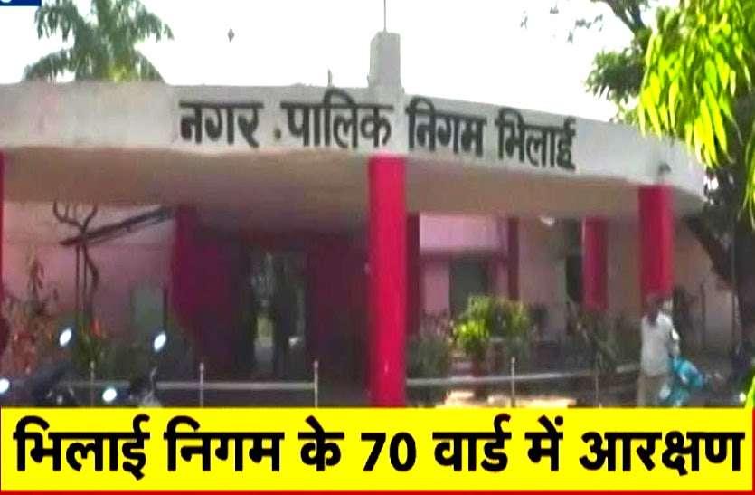 भिलाई निगम वार्ड आरक्षण, दिग्गजों का पत्ता कटा अब पत्नियां उतरेंगी चुनावी मैदान में, 70 में से 23 वार्ड महिलाओं के लिए आरक्षित