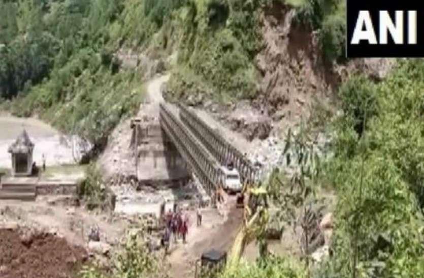 चमोली त्रासदी: ऋषि गंगा नदी पर बना पुल पानी के सैलाब में बह गया था, BRO ने सिर्फ दस दिन में फिर से बना दिया