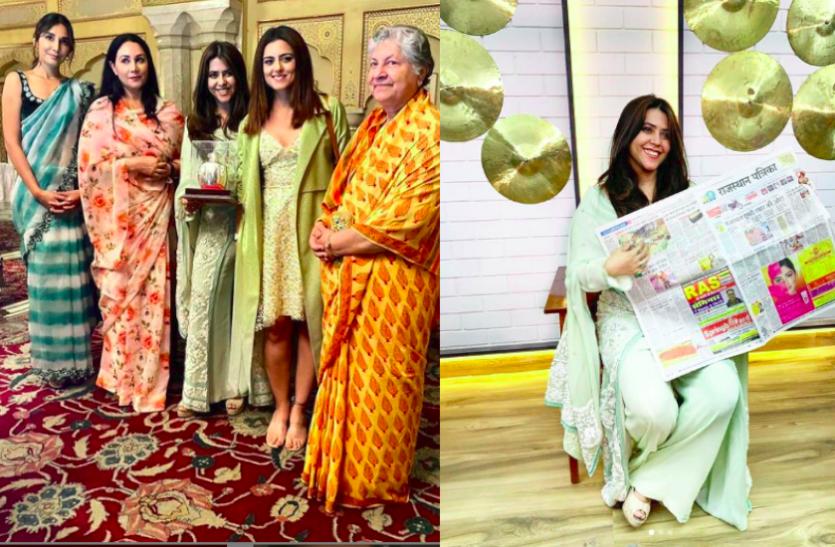 'द मैरिड वुमन' के लिए जयपुर आईं मोनिका और रिद्धि डोगरा, एकता ने की दीया कुमारी से मुलाकात