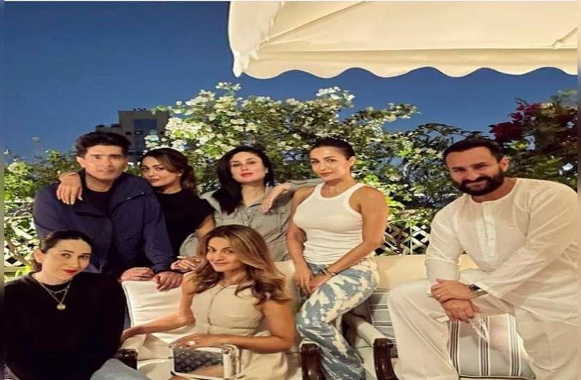 मां बनने के बाद पहली बार नज़र आईं Kareena Kapoor, पार्टी करते हुए करिश्मा, मलाइका संग दिए खूब पोज