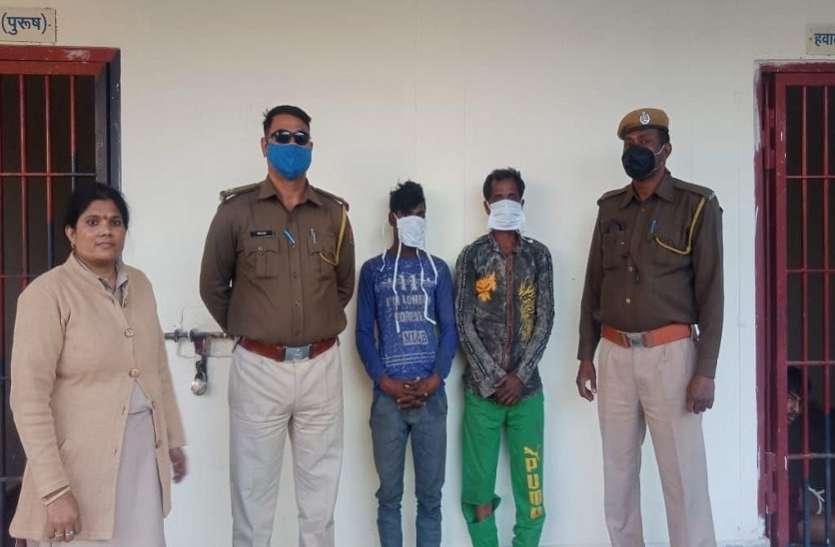 दुकानों से सामान चुराने वाले पांच आरोपी गिरफ्तार