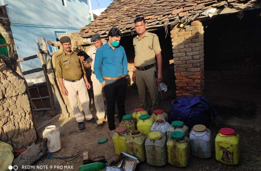 दो गांव में पांच जगह प्रशासन का छापा, 2.30 लाख की शराब व सामग्री जब्त
