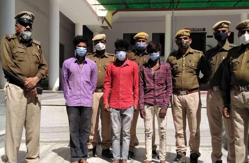मंदिरों में चोरी की आरोपी गैंग का खुलासा, तीन गिरफ्तार