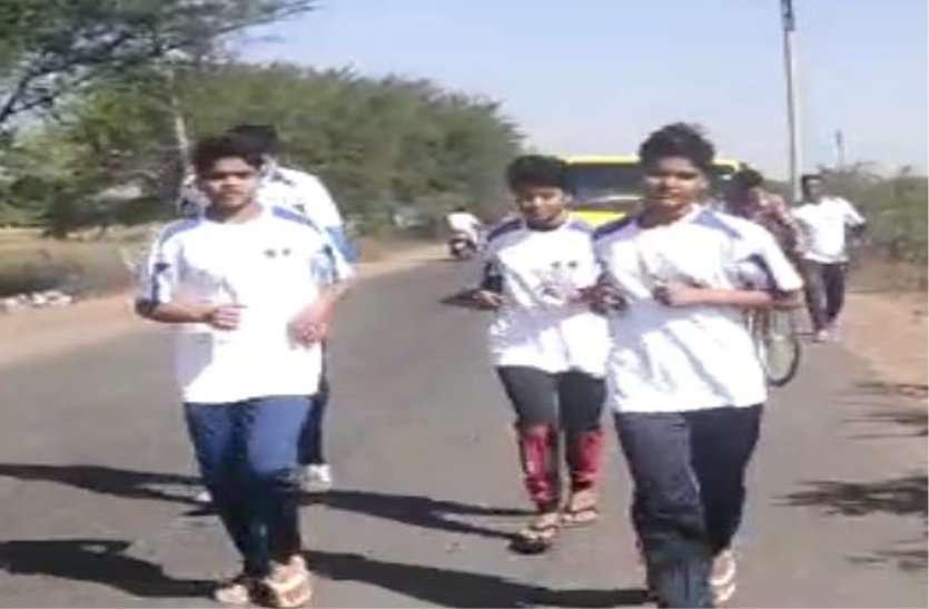 गांव की बेटियों ने पहले दिन तय की 73 किमी दूरी, नटेरन से आज की दौड़ होगी शुरू