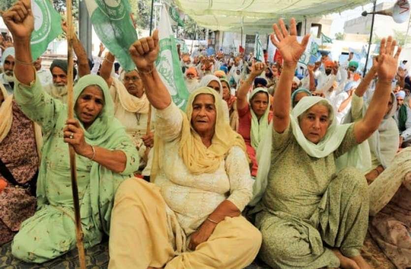 अंतरराष्ट्रीय महिला दिवस पर महिला किसान संभालेंगी आंदोलन की बागडोर, हाथों में रचवाएंगी इंकलाबी मेहंदी