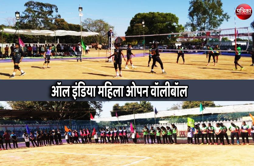ऑल इंडिया महिला ओपन वॉलीबॉल प्रतियोगिता शुरु, पंजाब और रायपुर के बीच पहला मैच