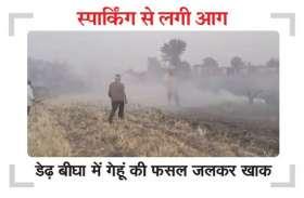 देखते ही देखते जलकर धुआं हो गई किसान की मेहनत