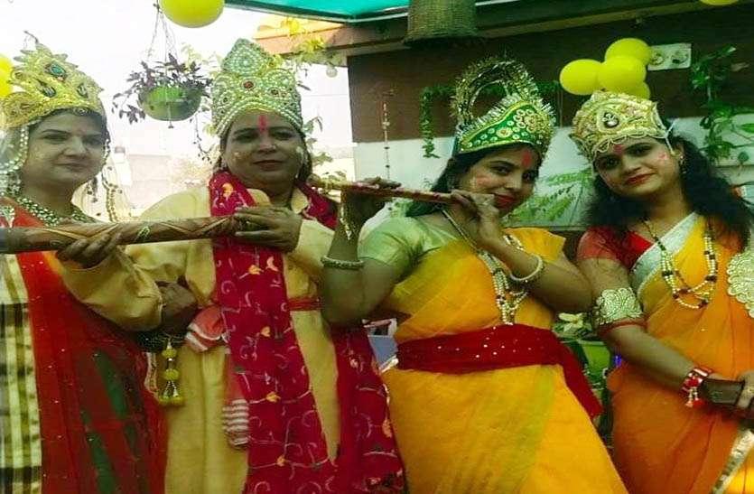 मंदिरों में फागोत्सव का जमने लगा रंग, फाग गीतों पर राधा-कृष्ण बनकर थिरकी महिलाएं