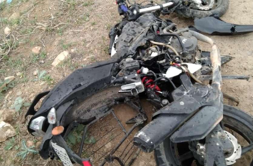कार व मोटरसाइकिल की आपस में भिड़ंत, छात्रा की मौत