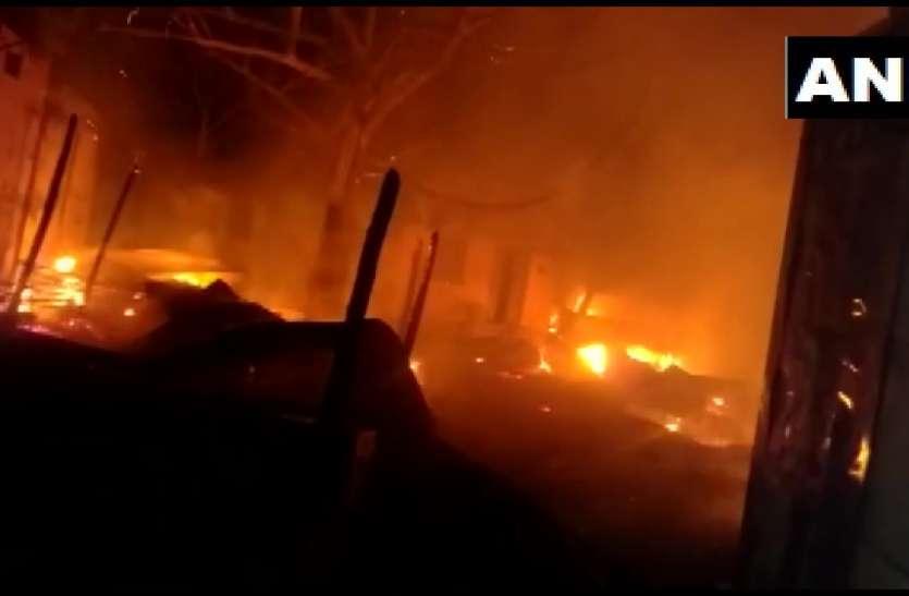 पटना पुलिस लाइन में धमाके के बाद लगी आग, दमकल की आठ गाड़ियां बचाव कार्य में लगीं