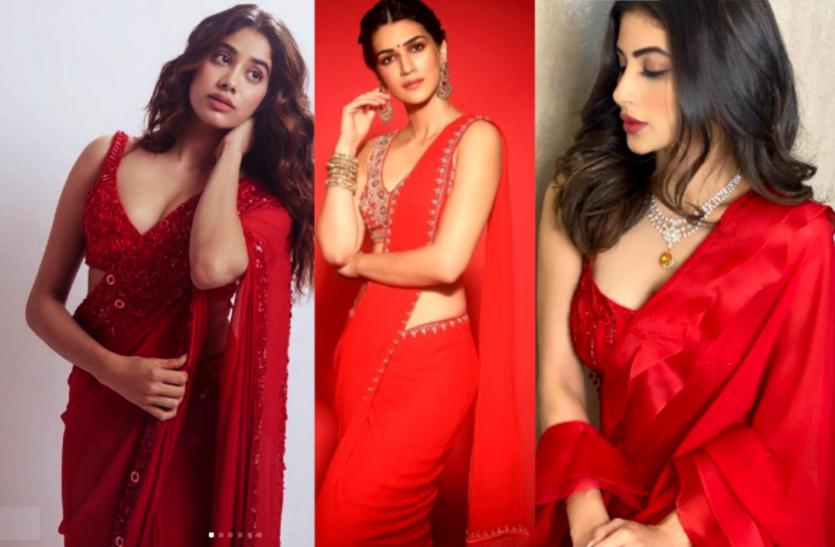 Bollywood Actresses in Red Saree: लाल साड़ी में एक्ट्रेसेस के HD और HQ फोटोज