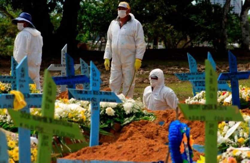 Coronavirus: ब्राजील में हालात बेकाबू, 24 घंटे में रिकॉर्ड 3,650 लोगों की मौत