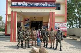 श्रावस्ती में 210 शीशी नेपाली शराब के साथ तस्कर गिरफ्तार