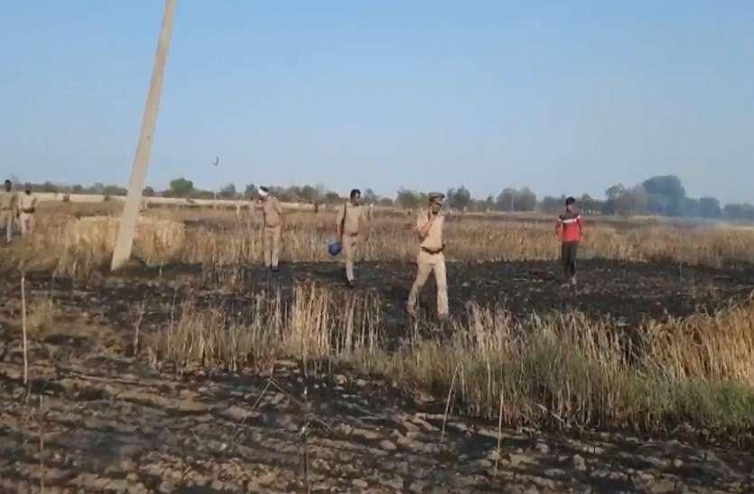 40 बीघा खेत में लगी गेहूं की फसल जलकर राख, किसान परिवार में कोहराम