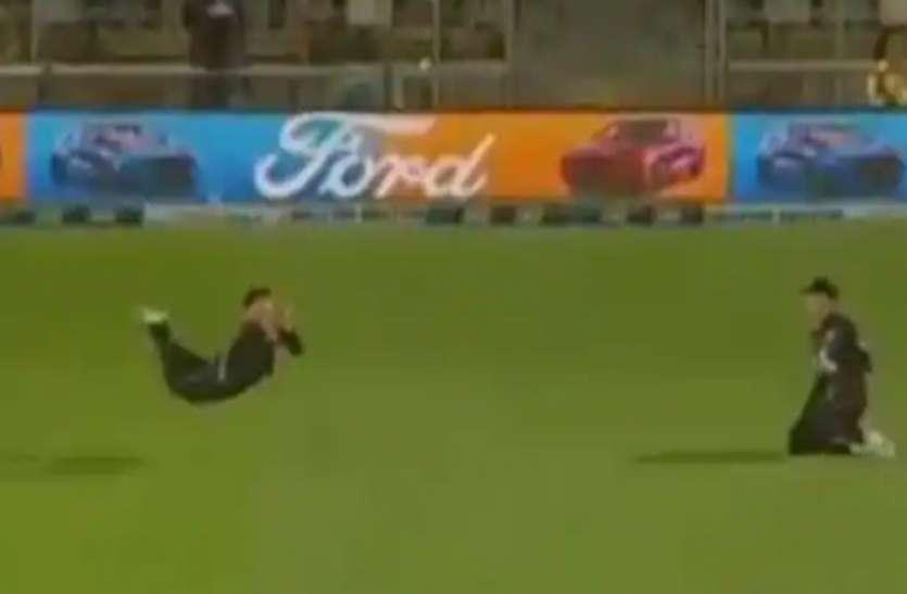 NZ vs BAN: ग्लेन फिलिप्स ने कैच के लिए हवा में लगाई छलांग, देखें वीडियो