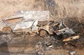 मनिहारी व्यापारी के साथ लूट, गाड़ी में लगाई आग