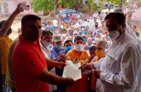 छोटीसादडी में भाजपा ने किया नगर पालिका प्रशासन की कार्रवाई का विरोध