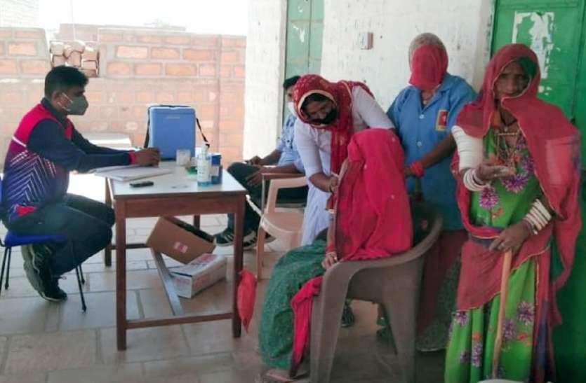बीरमा काणोद व देऊंगा में 115 व्यक्तियों के लगे टीके