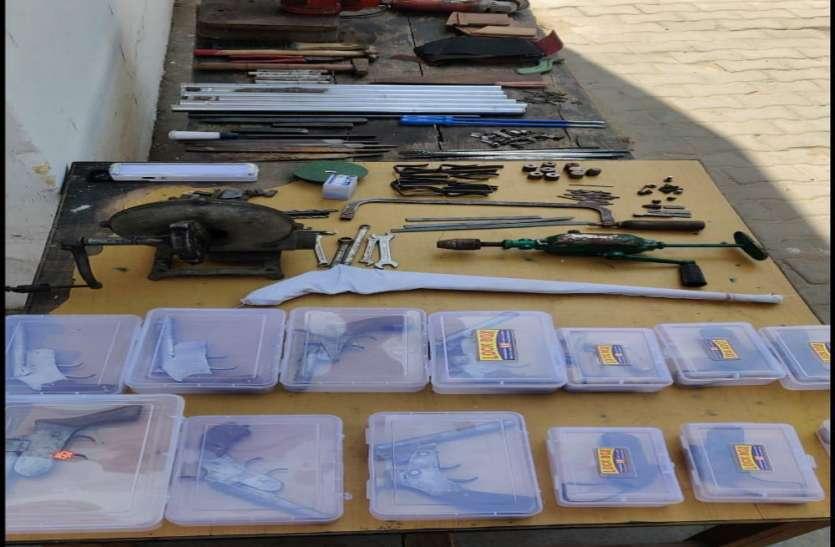 अवैध शस्त्र फैक्ट्री का भण्डाफोड,मिली बड़ी सफलता