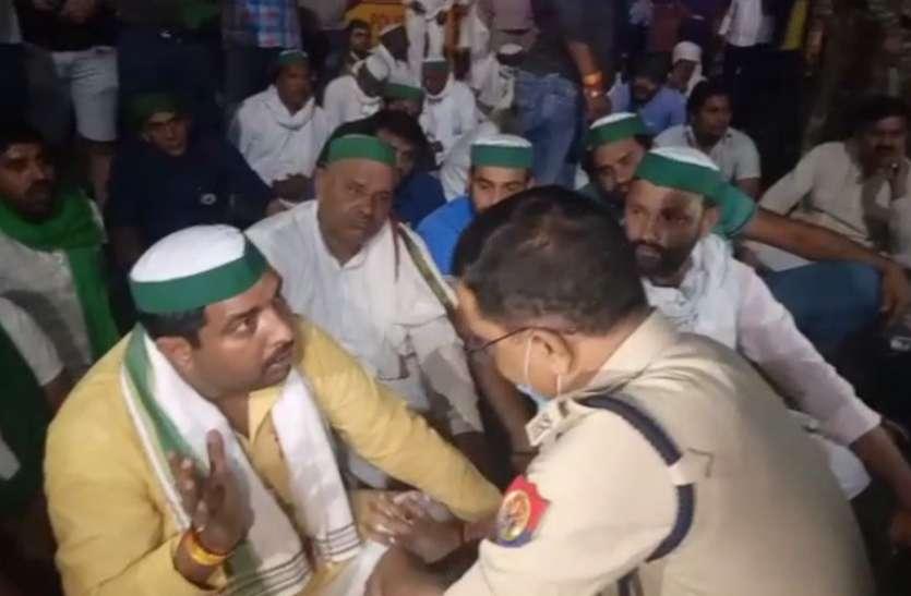 राकेश टिकैत पर हमले के विरोध में भाकियू ने चिल्ला बॉर्डर किया जाम, 24 घंटे का अल्टीमेटम देकर खोला