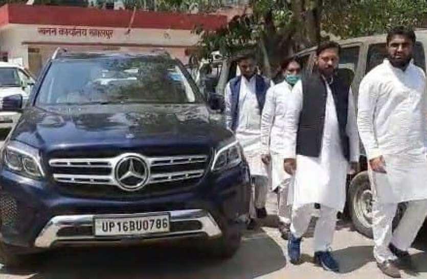 Panchayat Election सवा करोड़ रुपये कीमत वाली मर्सिडीज से पर्चा दाखिल करने पहुंचा प्रत्याशी