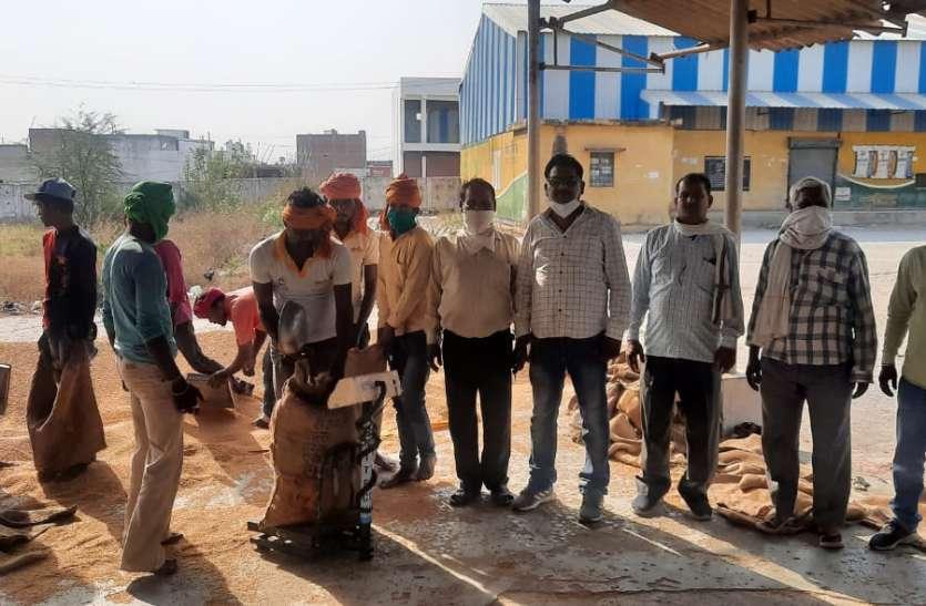 उपार्जन : खरीदी चालू होने के 5वें दिन एक केन्द्र पर 75 क्विंटल गेहूं की तौल, 12 समितियों पर पूछताक्ष