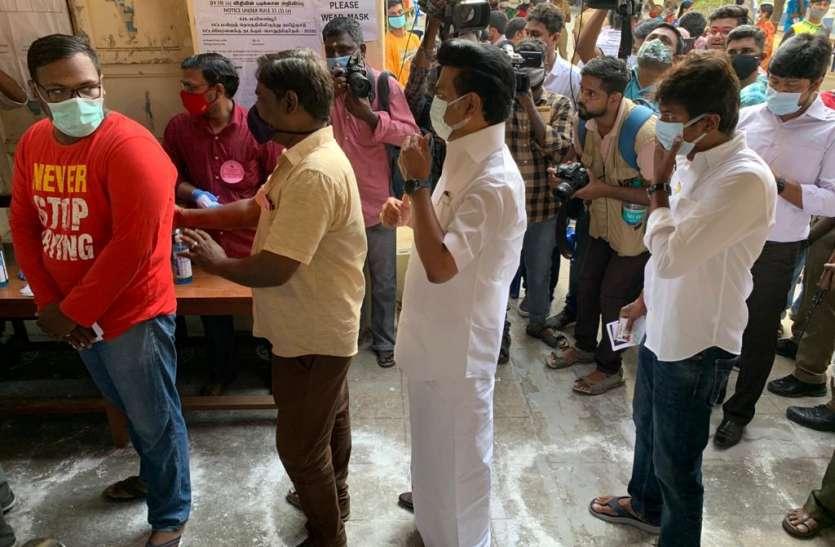तमिलनाडु विधानसभा चुनाव, tamilnadu assembly election 2021, दो घंटे में 14 फीसदी मतदान